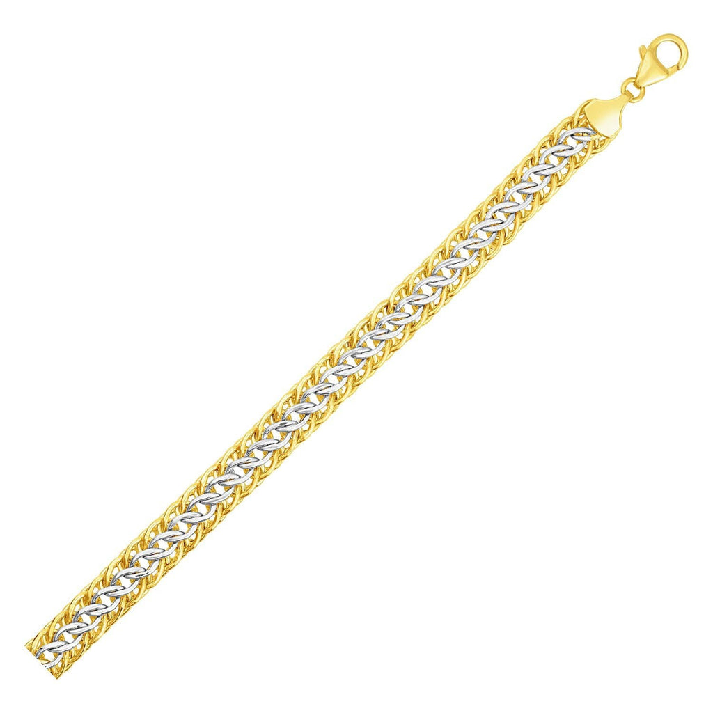 Reversible Sedusa Link Bracelet in 14k Two Tone Gold