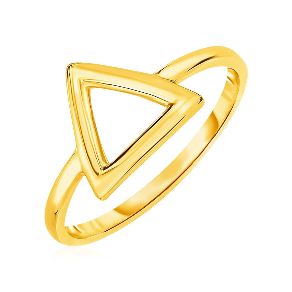 14k Yellow Gold Ring with Triangle