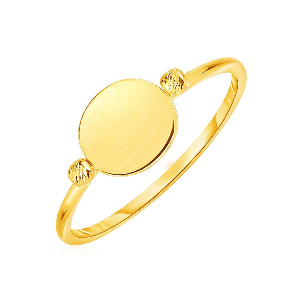 14k Yellow Gold Ring with Polished Oval