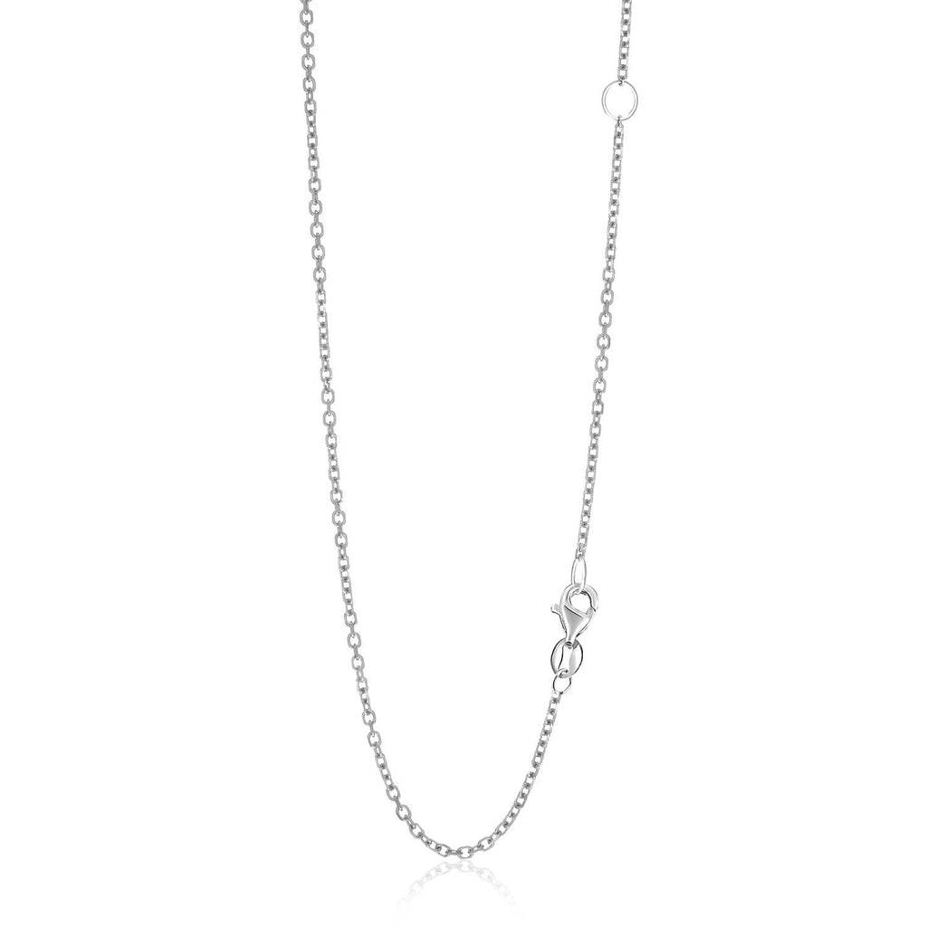 14k White Gold Adjustable Cable Chain 1.5mm