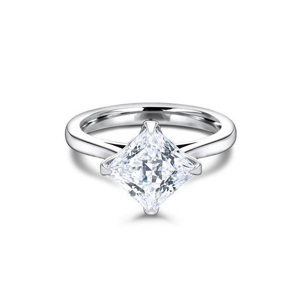 1.70 CT Princess Cut Forever One Moissanite Solitaire Engagement Ring