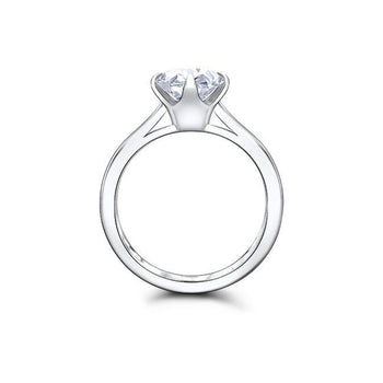 1.50 CT Round Cut Forever One Moissanite Solitaire Engagement Ring