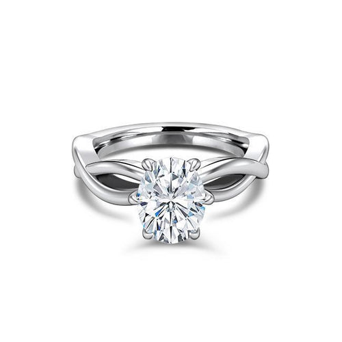 1.50 CT Oval Cut Forever One Moissanite Solitare Engagement Ring