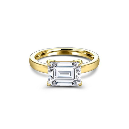 1.75 CT Emerald Cut Forever One Moissanite Solitaire Engagement Ring
