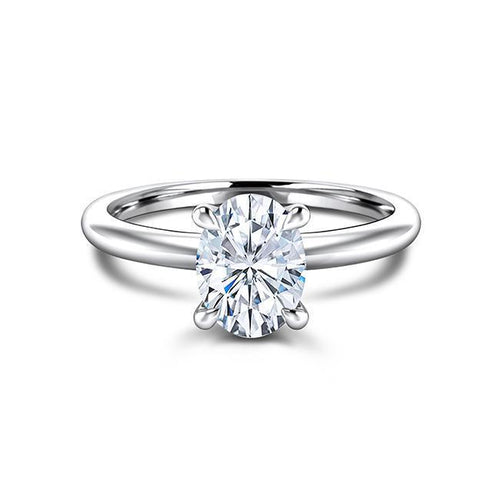 Zaven Solitaire Ring with Oval Diamond