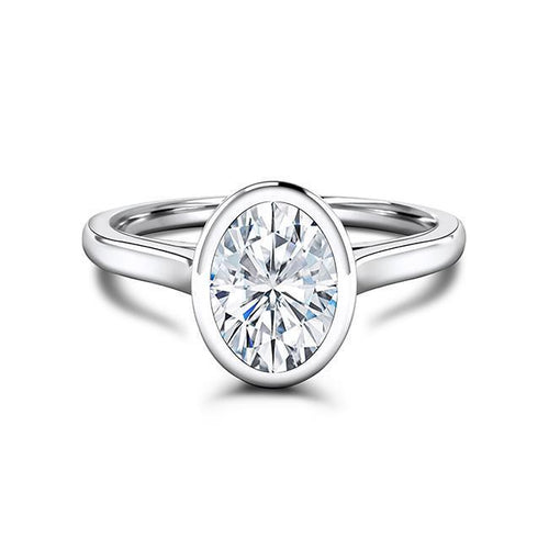 Zaven Bezel Ring with Oval Diamond