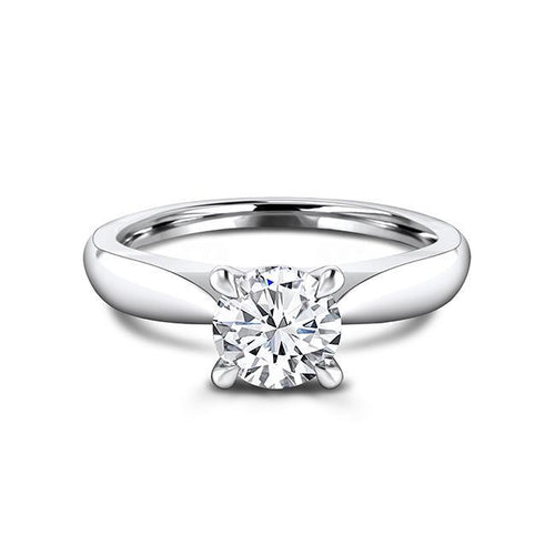 Zaven Solitaire Ring with Round Brilliant Diamond