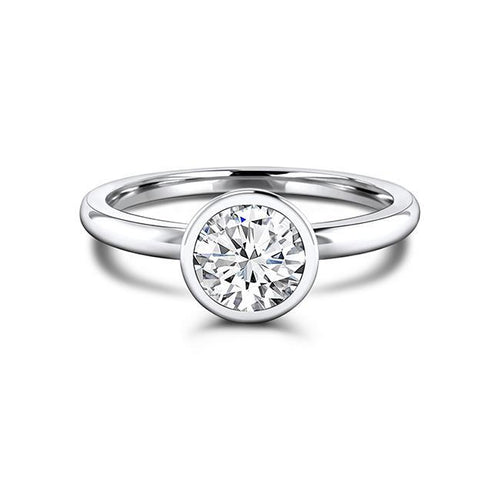 Zaven Bezel Solitaire Ring with Round Diamond