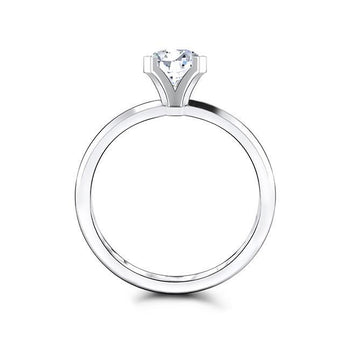Safia 0.75CT TW Diamond 14K White Gold Classic Solitaire Engagement Ring