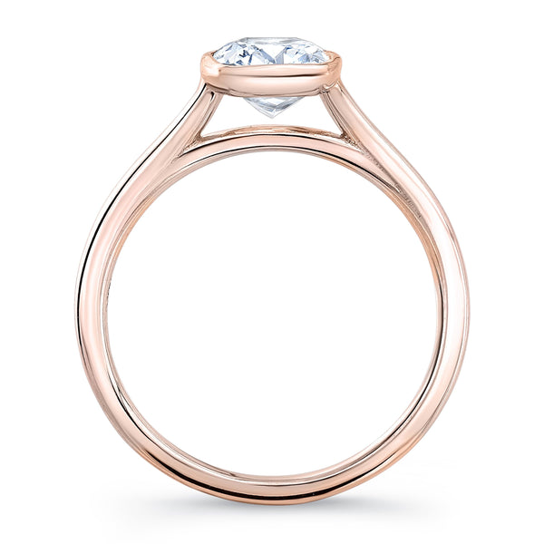 Zaven Bezel Solitaire Ring with Radiant Diamond