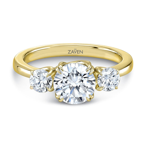 Zaven Three Stone Round Brilliant Ring