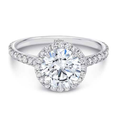 Zaven Halo 1.5 CT Round Brilliant Diamond Ring