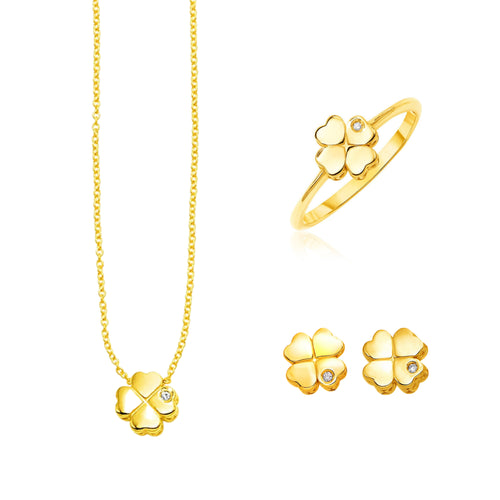 Four Leaf Clover Trio Set