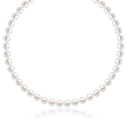 14K Yellow Gold Necklace with White Freshwater Cultured Pearls