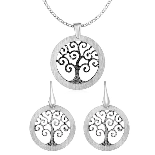 Tree of Life Necklace & Earrings Set