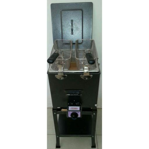 Tenno Penggorengan/Deep Fryer Gas + Rangka FRY-220T-TR