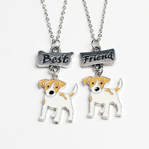 2 Piece Jack Russell Terrier Necklace - Puppy's Planet