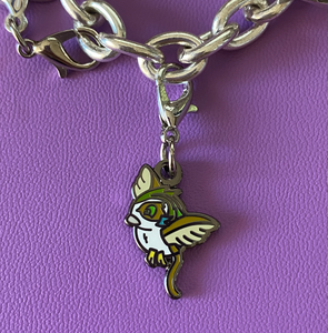 Clip-on Space Owl Charm