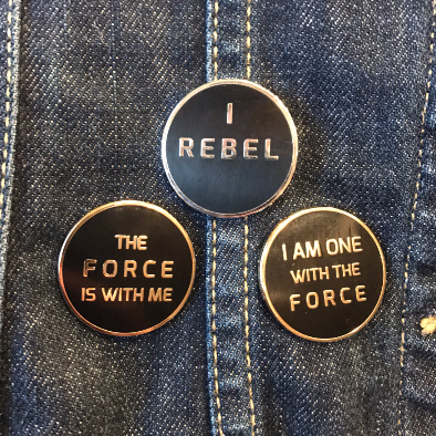 Rogue One Trio - I Rebel, I Am One With the Force, The Force Is With Me - Hard Enamel Pins