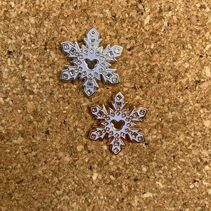 Mouse snowflake pin