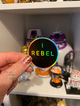 Holographic I rebel Vinyl Sticker