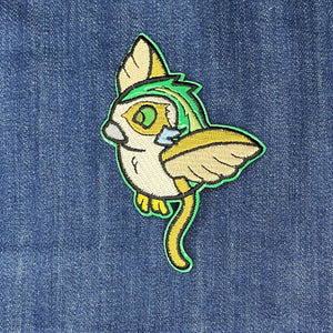 Space Owl holographic iron on patch