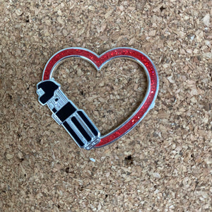 Dark Love Hard enamel pin