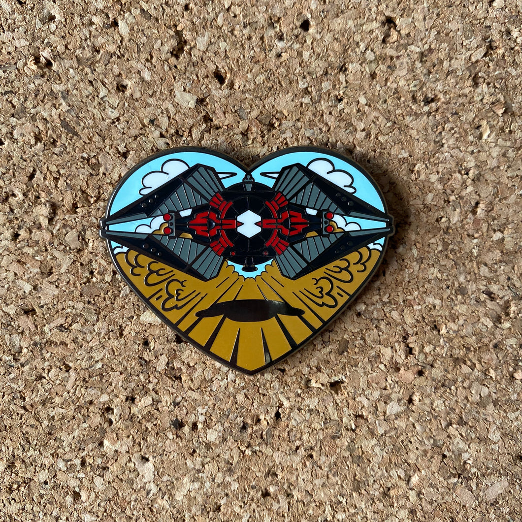 Silent Love Hard enamel pin