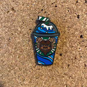 Blue Milk Frap - Hard enamel pin