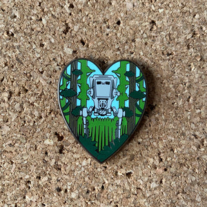 Lv-St Love Hard enamel pin