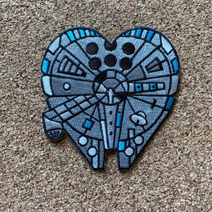 Space ship Love iron on patches