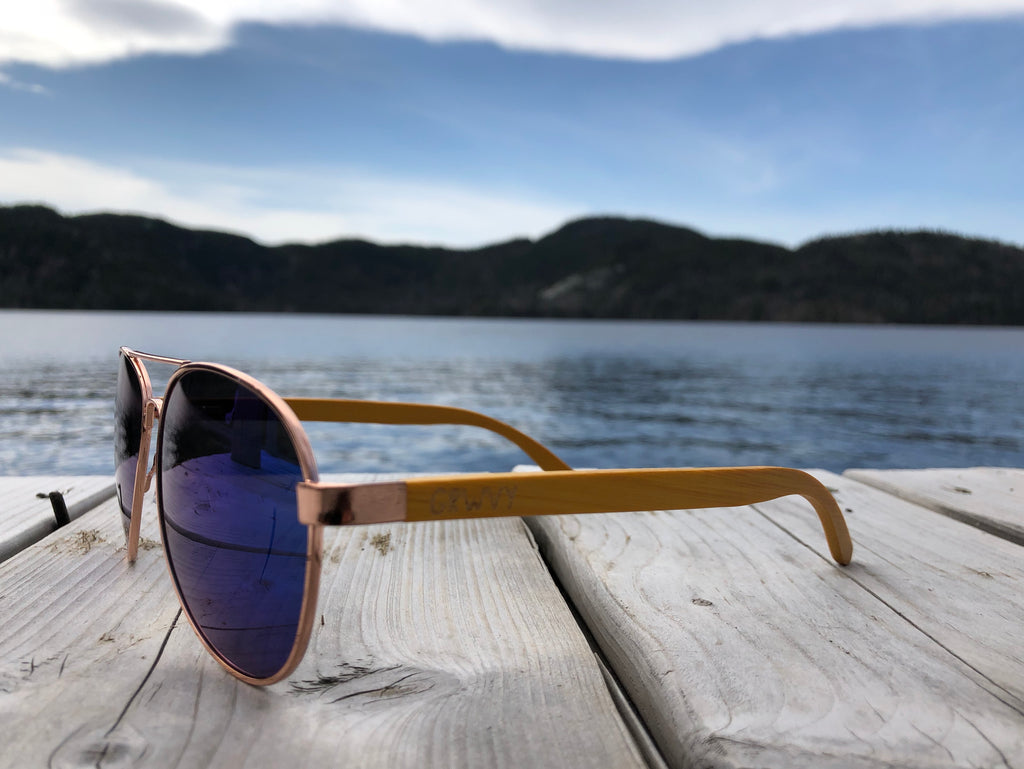 Indo - Bamboo and metal sunglasses - GRWVY