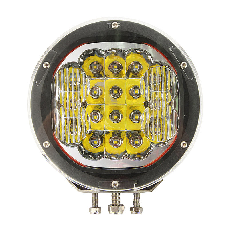Auxbeam 7 inch 90W Cree Round Spot & Flood Beam LED Driving Light w/ Mount & Cover