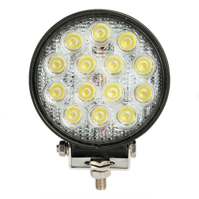 "Auxbeam 4.5"" 42W Round Flood Beam Off Road LED Driving Light"