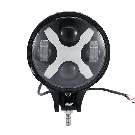 "Auxbeam 6"" 60W Round Cree LED Driving Light w/ X Shape DRL"