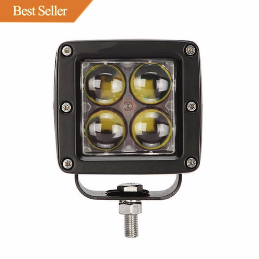 Auxbeam Single 3 inch 20W Philips Square Off Road LED Fog Light