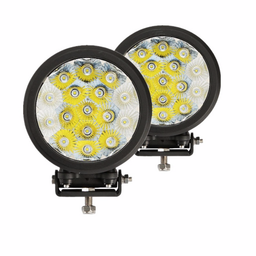 Auxbeam 7 inch 80W Round Off Road LED Lights Spot & Flood Beam Pair