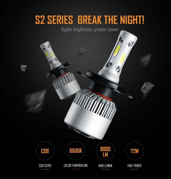 Auxbeam Auxbeam S2 H11/H9/H8 LED Headlight