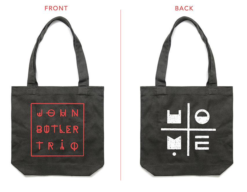 [accessories]  JBT 'HOME' cotton canvas tote (black)
