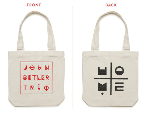[accessories]  JBT 'HOME' cotton canvas tote (cream)