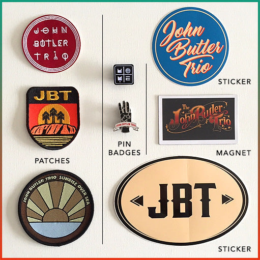 [Accessories] John Butler Trio - Badges, Stickers & Patches Pack