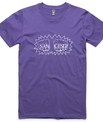 [t-shirt] Purple Fist Tee