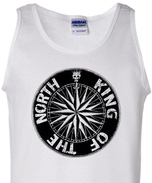 T-shirts - [t-shirt] King Of The North Tank Top - White