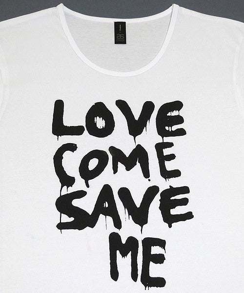 T-shirts - [t-shirt]  Love Save Me - Black On White