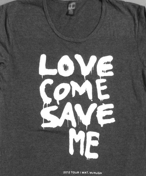 T-shirts - [t-shirt]  Love Save Me - White On Grey
