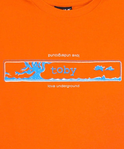 T-shirts - [t-shirt] Orange 'Love Underground' Ladies Tee