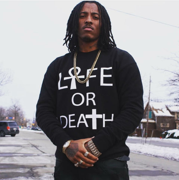 L☥fe Or Death Crewneck Sweater