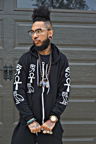 Knowledge OF Self Designer Zip-up Sweater