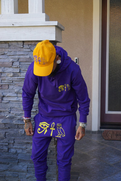 Kos 3 symbol sweatsuit purple/yellow