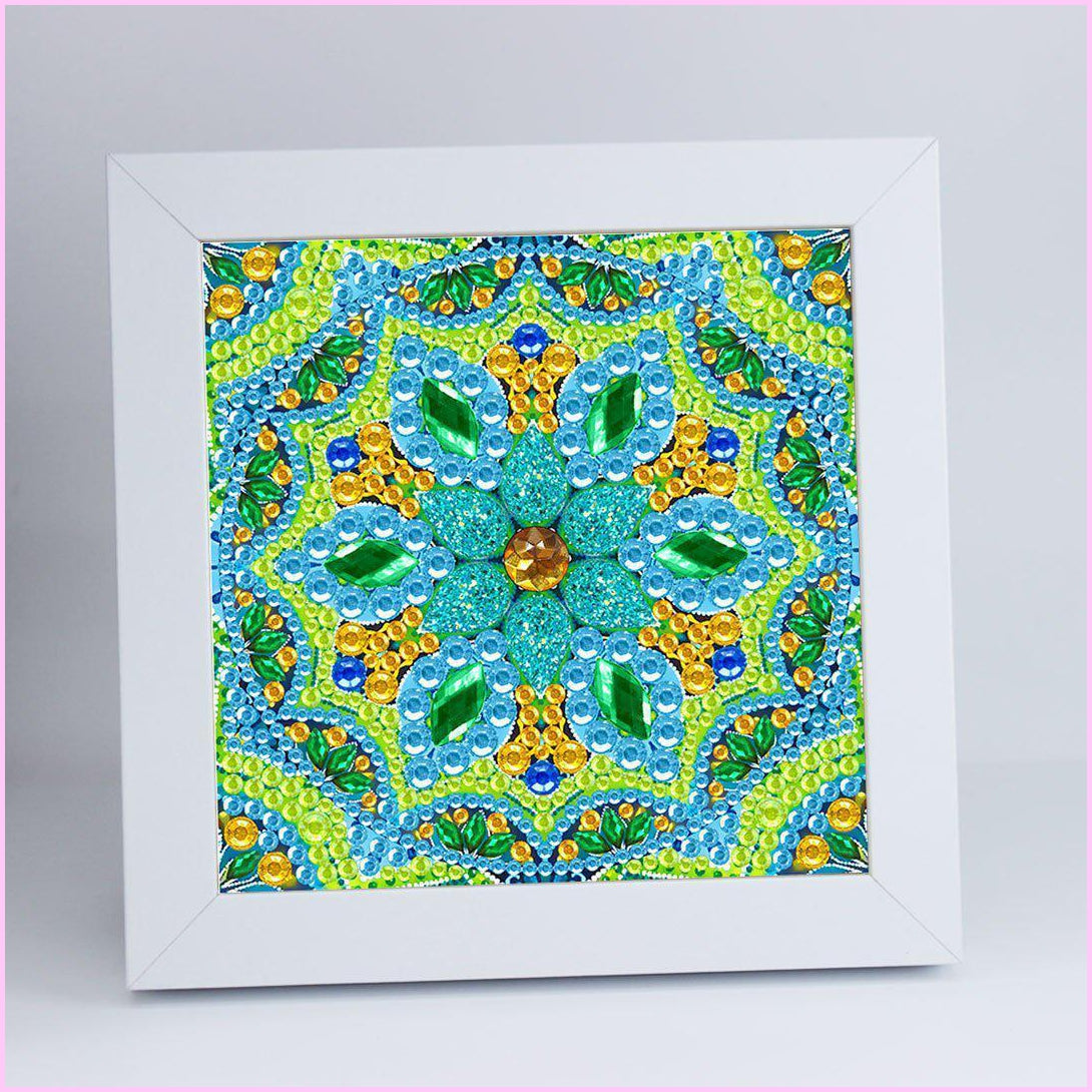 "Kids ""Pebbles"" Diamond Painting - Neon Mandala"